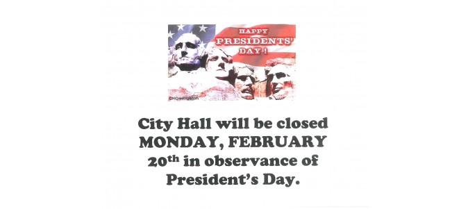 Office Closure - President's Day