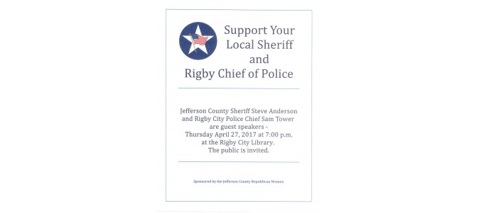 Support Your Local Sheriff and Police Chief