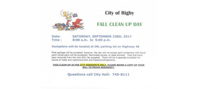 FALL CLEAN UP DAY