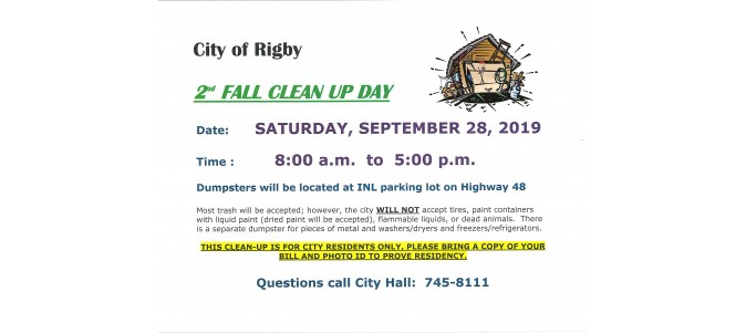 2nd Fall Clean Up