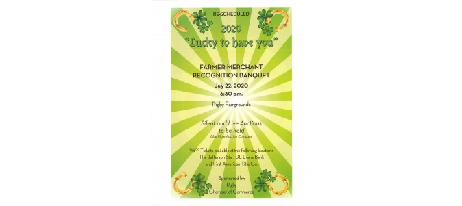 RESCHEDULED FARMER MERCHANT BANQUET