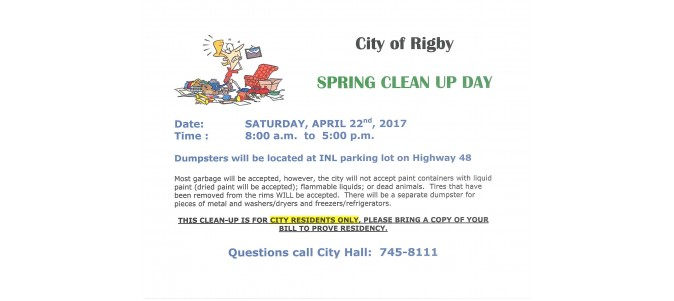 Spring Clean Up 2017